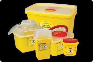 Coletor Rígido de Material Perfuro Cortante 1 Litro Ref.MI155 - MD  - Shopping Prosaúde