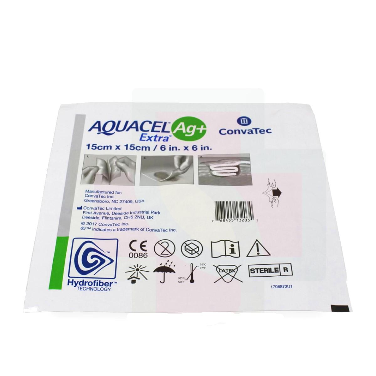 CURATIVO AQUACEL AG+ EXTRA 15 X 15 BR10378 CM UND - CONVATEC