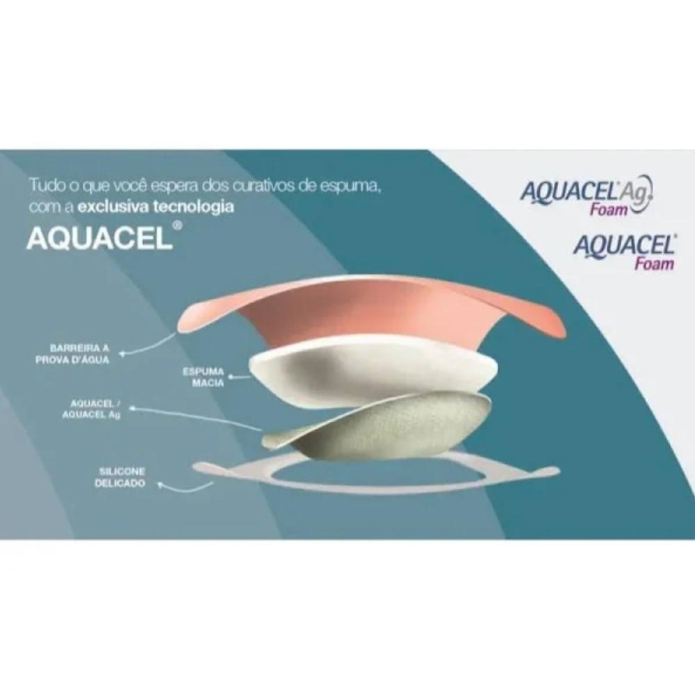 CURATIVO AQUACEL AG FOAM 12,5 X 12,5 UND. 420627 CONVATEC