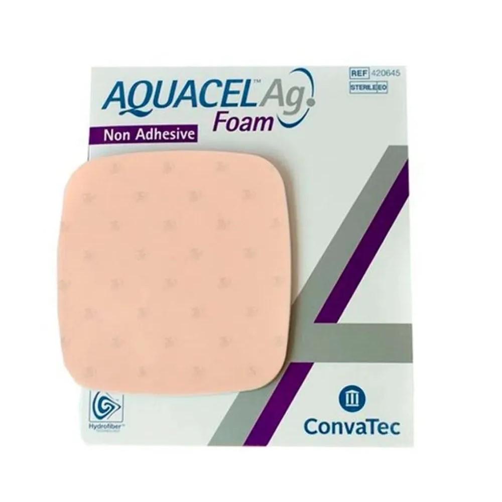 CURATIVO AQUACEL AG FOAM SEM ADESIVO 15 X 15 CM (CX C/10) 420645 - CONVATEC