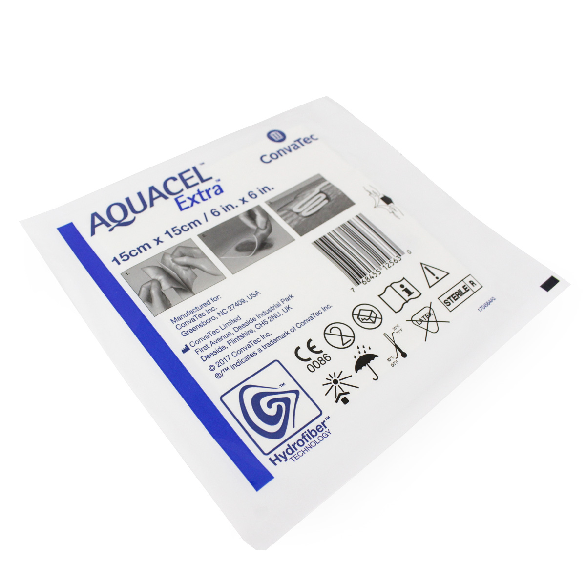 CURATIVO AQUACEL EXTRA 15 X 15 CM UND. 420673 - CONVATEC