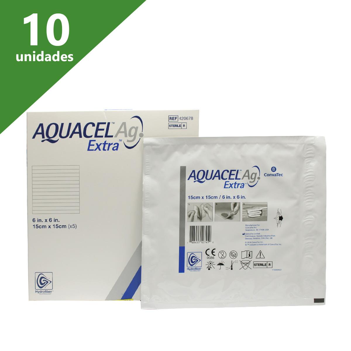 CURATIVO AQUACEL EXTRA AG 15 X 15 CM (CX C/10)  420678 - CONVATEC