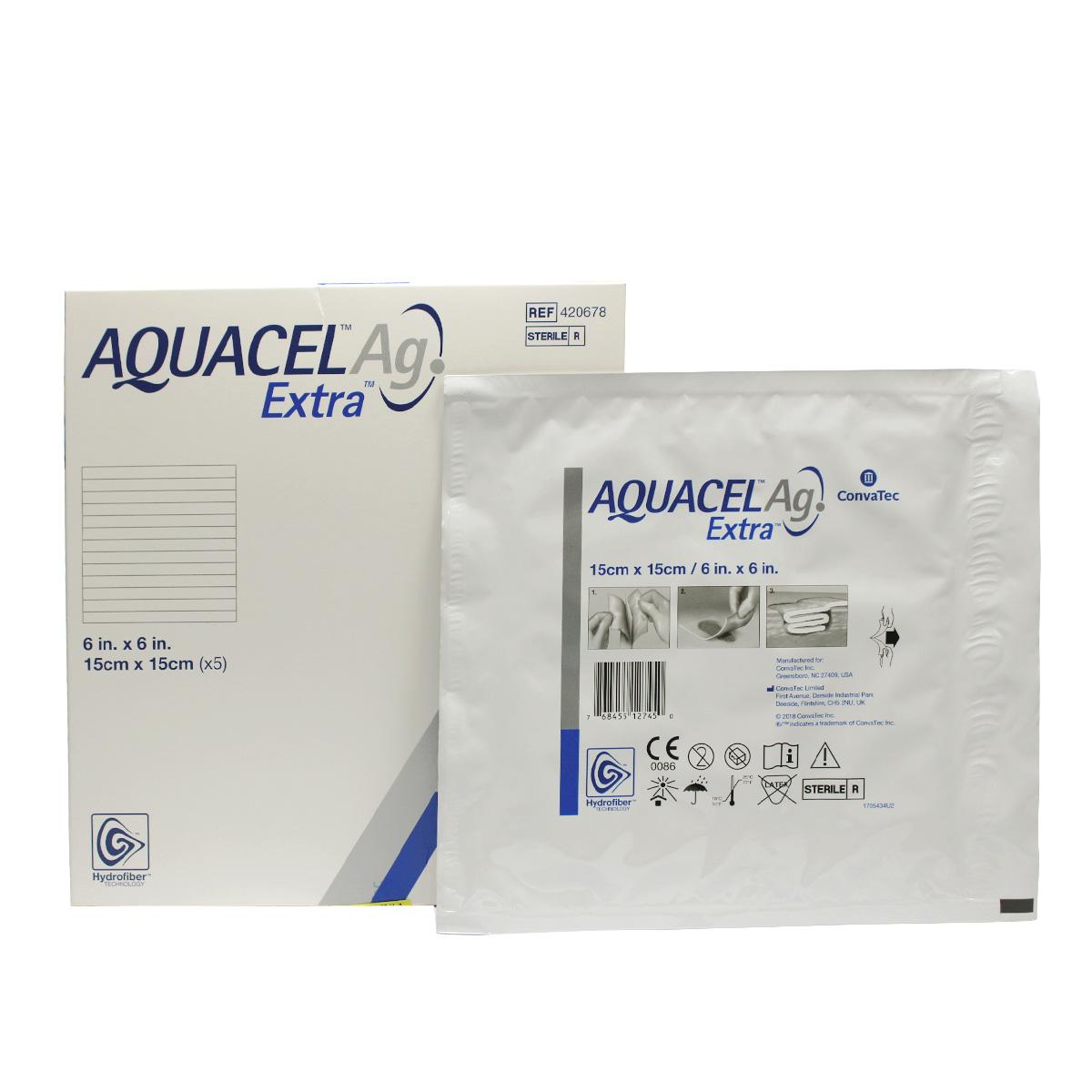 CURATIVO AQUACEL EXTRA AG 15 X 15 CM (UND) 420678 - CONVATEC