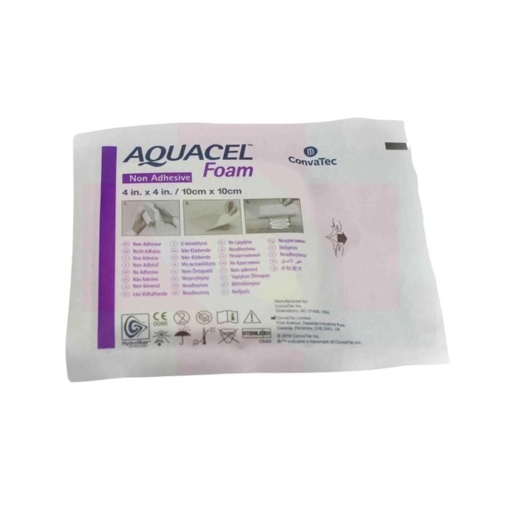 CURATIVO AQUACEL FOAM 10 X 10 CM S/ ADESIVO (CX C/10 UNDS) 420633 - CONVATEC