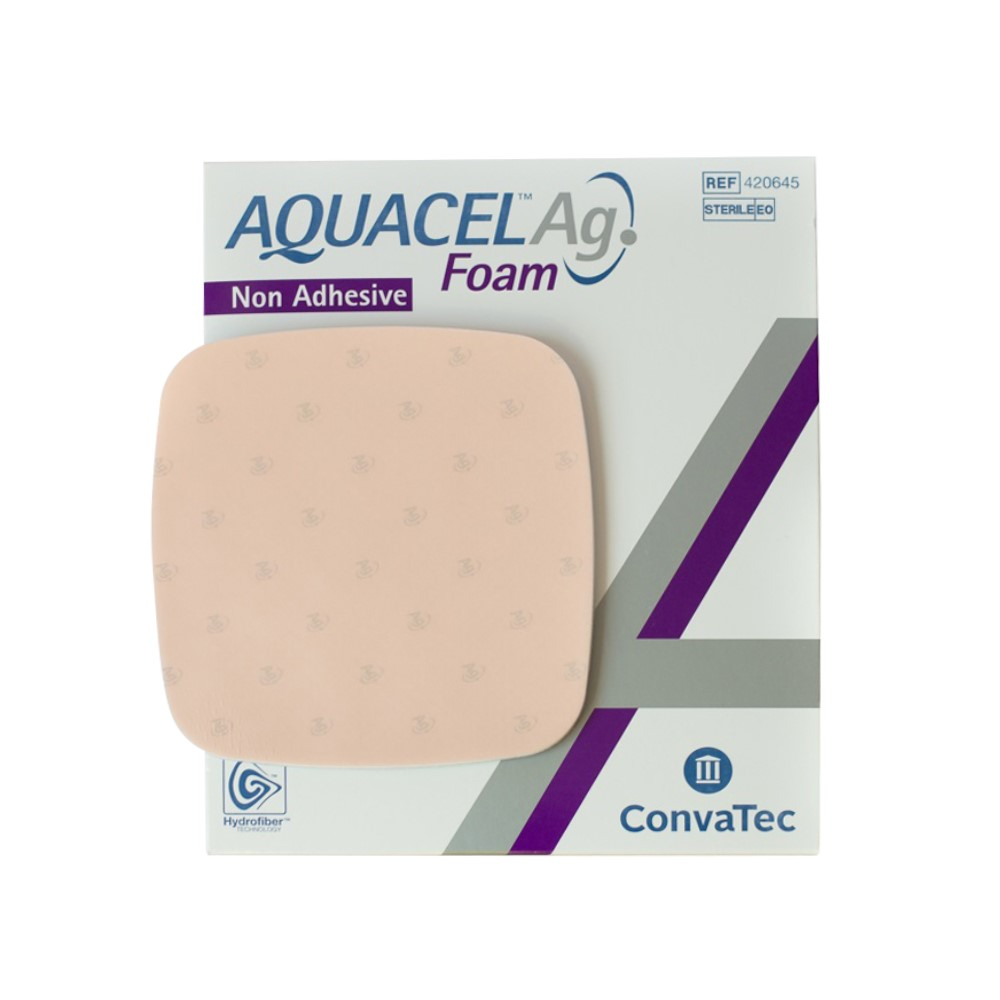 CURATIVO AQUACEL FOAM ADESIVO 12,5 X 12,5 CM UND. 420619 - CONVATEC