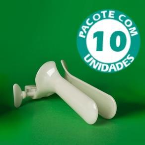 Espéculo Varginal Estéril Ecospec Descartável M Pacote com 10 Unidades - Kolplast