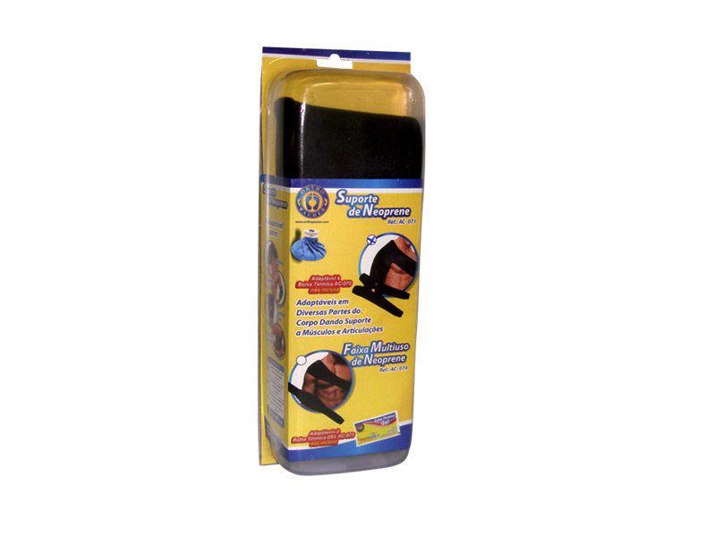 Faixa Multi-Uso de Neoprene Pauher Support Preto Ref. AC074 - Ortho Pauher  - Shopping Prosaúde