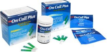 FITAS DE GLICEMIA  ON CALL PLUS ONCALL - CX COM 100  - ONCALL  - Shopping Prosaúde