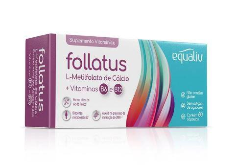 FOLLATUS C/60 CAPSULAS - EQUALIV  - Shopping Prosaúde