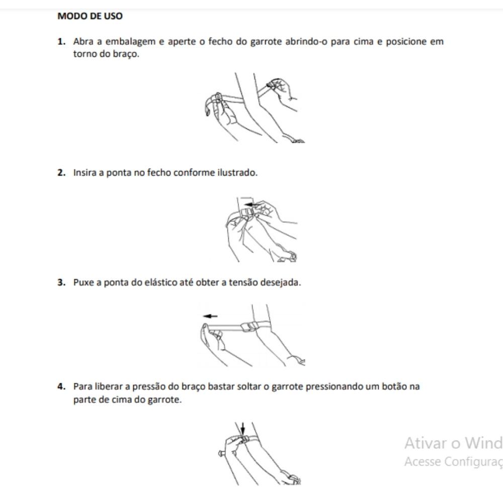 GARROTE EM TECIDO ELÁSTICO (TORNIQUETE) - PREMIUM