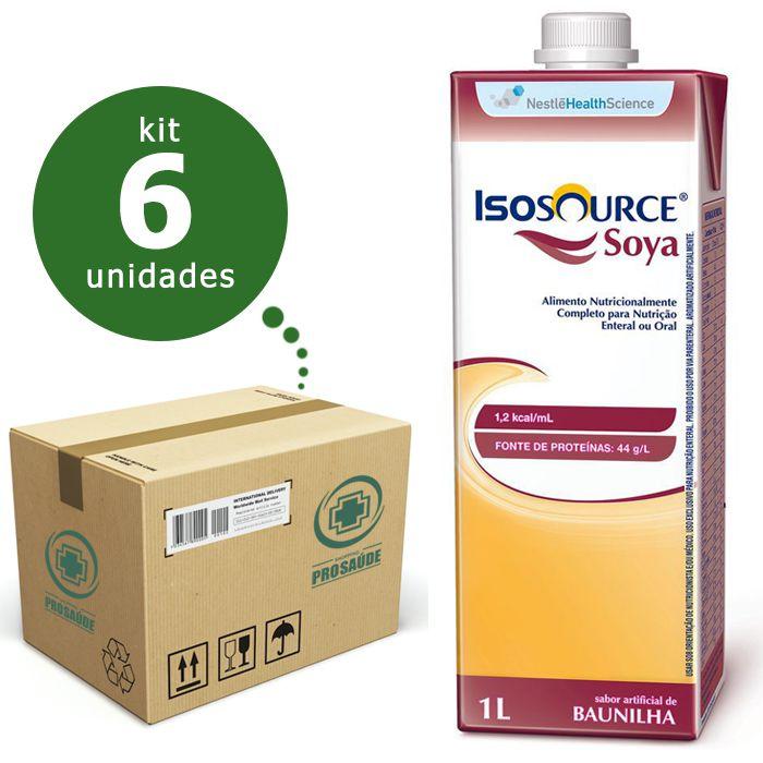 ISOSOURCE SOYA 1.2KCAL/ML 1L CX/06 - NESTLÉ  - Shopping Prosaúde