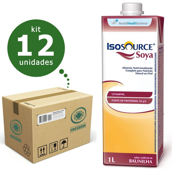 ISOSOURCE SOYA 1.2KCAL/ML 1L CX/12 - NESTLÉ  - Shopping Prosaúde