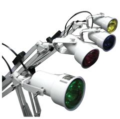 Luminária com Lâmpadas Coloridas Tripé 4 Braço 220v PA0026 - Estek