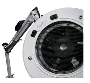 Luminária Com Ventilador Apoio de Mesa c/ Calha de Lâmpada Fluorecente - Estek