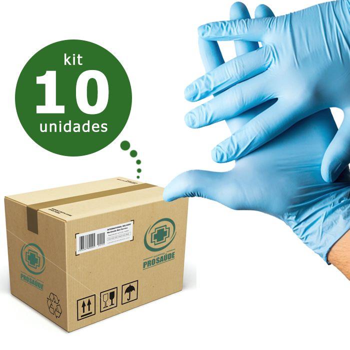 LUVA DE PROCEDIMENTO NITRÍLICA S/PÓ AZUL (CAIXA C/ 1000 UND) - NUGARD