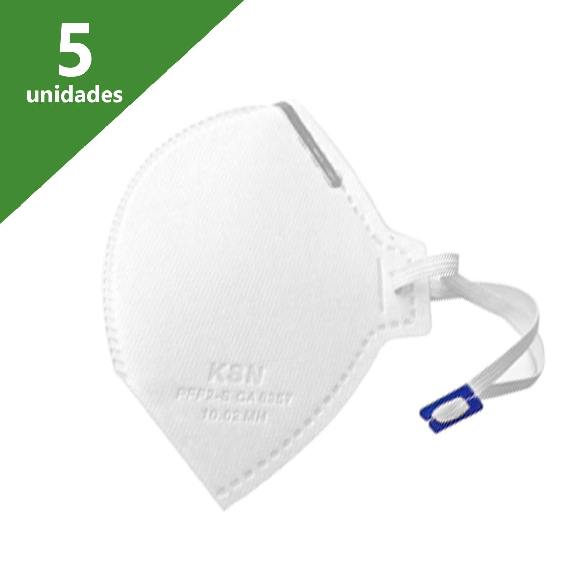 MÁSCARA DE PROTEÇÃO PFF2 (KIT C/05 UNDS) - KSN