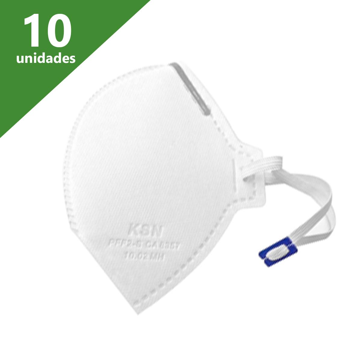 MÁSCARA DE PROTEÇÃO PFF2 (KIT C/10) - KSN