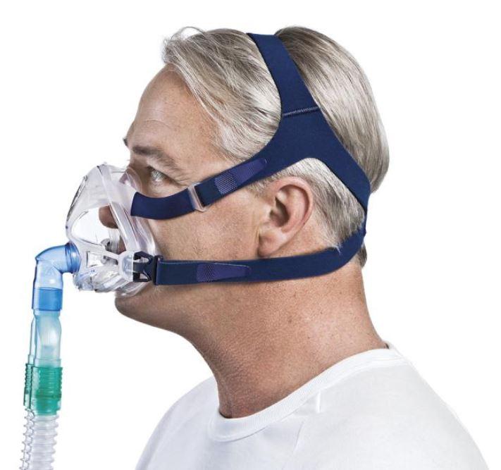 MÁSCARA PARA CPAP BIPAP FACIAL QUATTRO FX NV S/E GRANDE - RESMED