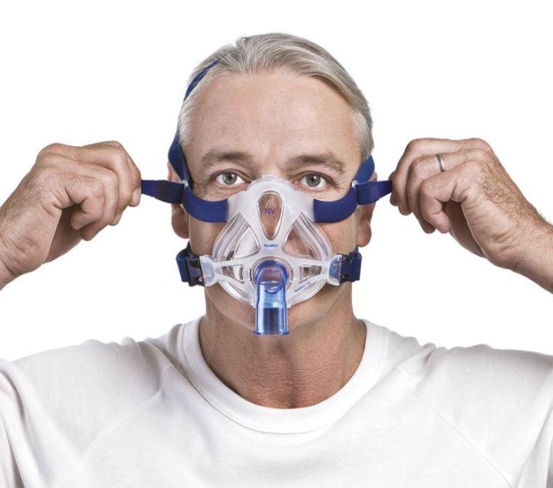 MÁSCARA PARA CPAP BIPAP FACIAL QUATTRO FX NV S/E MÉDIO 61740 - RESMED