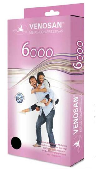 MEIA 7/8 COXA 6000 20-30MMHG ABERTA (AGH) - VENOSAN