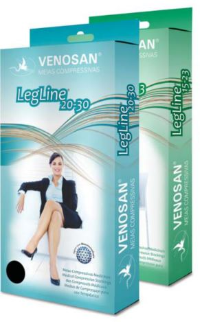 Meia Coxa Com Silicone Legline 15 ( 20-30mmHg) Fechado - Venosan