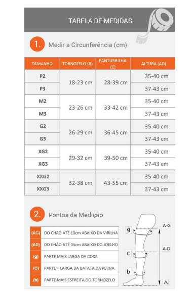 MEIA PANTURRILHA 4000 ULTRALINE 30-40MMHG ABERTA (AD) - VENOSAN