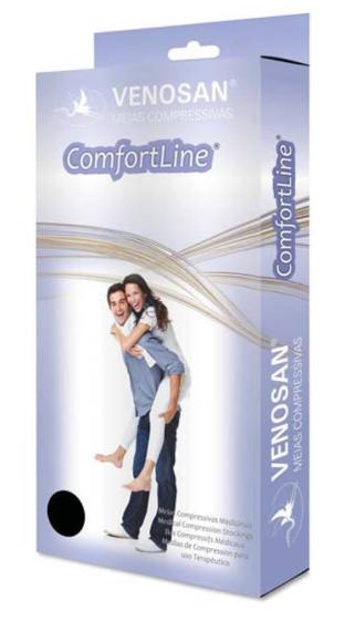 MEIA PANTURRILHA COMFORTLINE COTTON 30-40MMHG ABERTA BEGE (AD) - VENOSAN