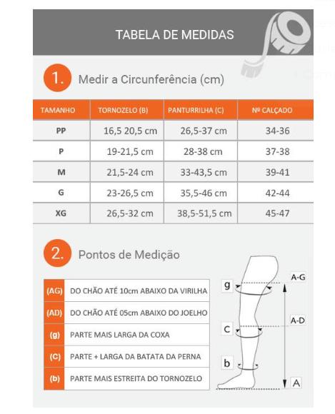 MEIA SUPPORTLINE 18-22MMHG FECHADA UNISSEX PANTURRILHA (AD) - VENOSAN