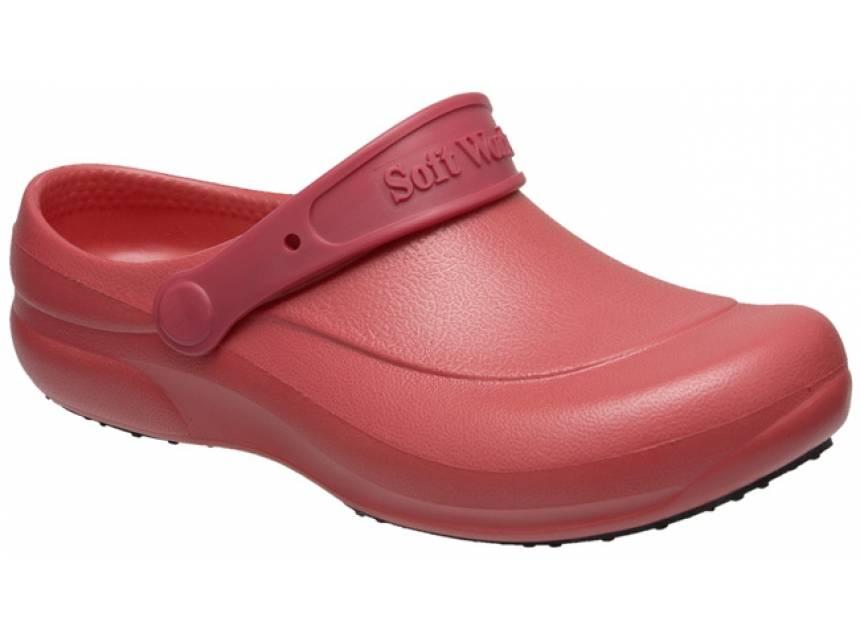 5e2e9e3c3 Sapato Aberto Vermelho Ref. BB60 - Softworks. Sapato Fechado Azul Medicina  ...