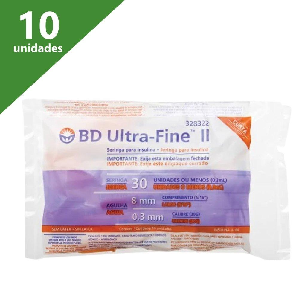 SERINGA ULTRA-FINE II 0,3CC 08 MM X 0,30 (PCT C/10) - BD