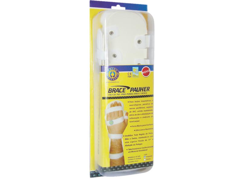 Tala de PVC para Punhos, Mãos e Dedos Brace Pauher Ref. AC639 - Ortho Pauher  - Shopping Prosaúde