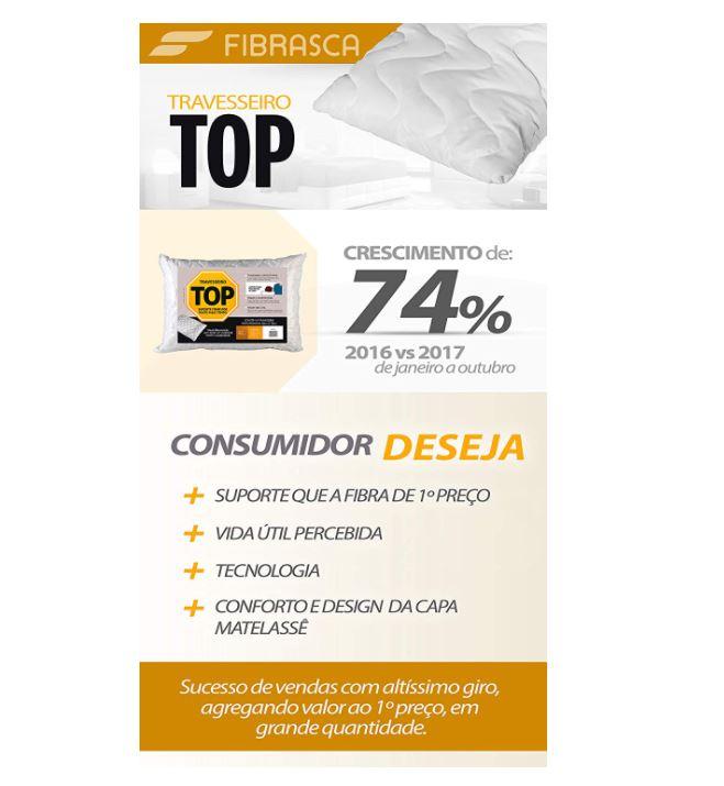 TRAVESSEIRO PARA FRONHA TOP 50 X 70CM - FIBRASCA