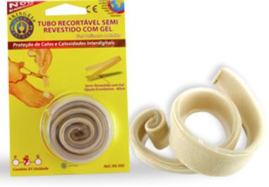 Tubo Recortável Semi-Revestido Com Gel 40 cm  Ref. SG-302 ? Ortho Pauher  - Shopping Prosaúde