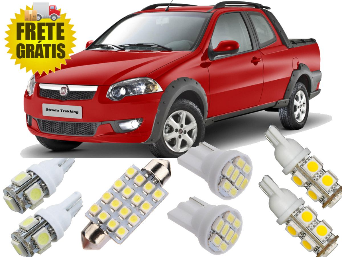 Kit Lampadas Led Fiat Strada 2014 / 2017