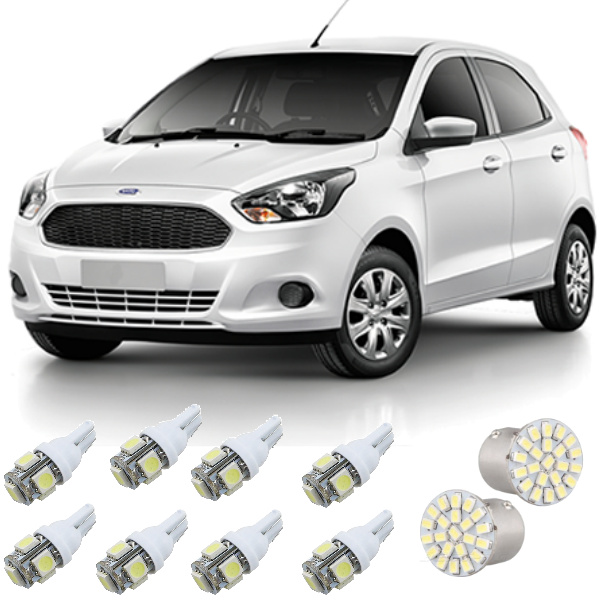 Kit Lampadas Led Novo Ford Ka