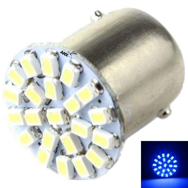 Lampada 1156 1 Polo 22 Leds Azul Ré - Placa Celta
