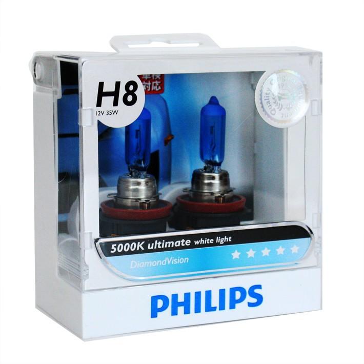 Lâmpada H8 35w Philips Diamond Vision 5000k - PAR