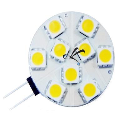 Lâmpada Náutica 9 Leds 5050 G4 10-30 Volts - Para Barcos E Lanchas - Branco Quente