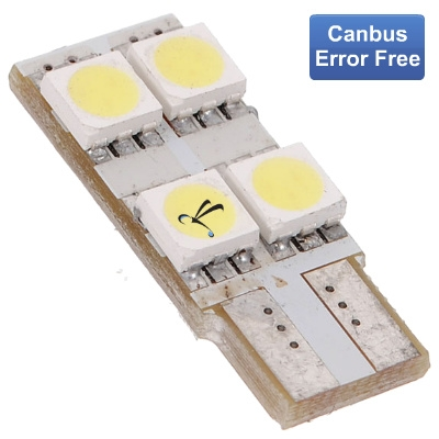 Lampada Pingo T10 4 Leds Smd 5050 Lateral - Canbus Canceller