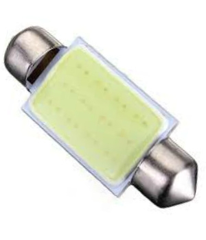 Lampada Torpedo 39mm 12 Chips Cob Led 12V