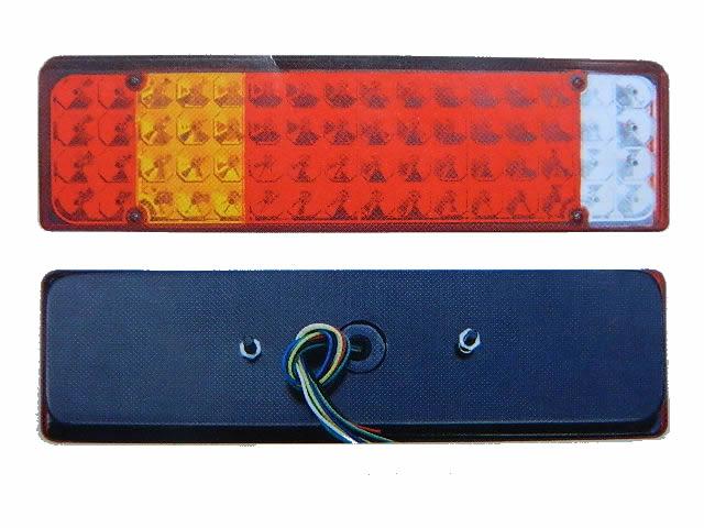 Lanterna De Led Traseira Para Caminhão - 64 Leds - Zd021