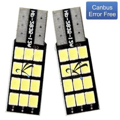 Par Lampada Pingo T10 12 Leds Smd 2835 Canbus Canceller
