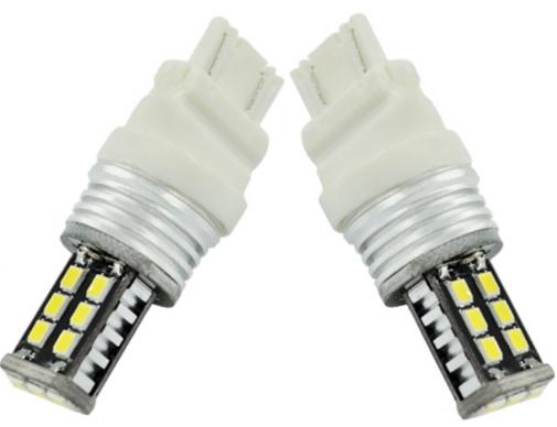 Par Lampada T25 3156 15 Leds Smd - 1 Contato - Canbus