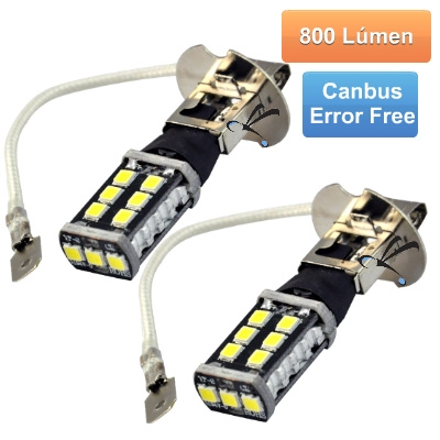 Par Lampadas H3 15 Leds Smd 3535 800 Lumens 12v Canbus