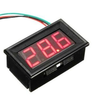 Voltímetro Led Digital 3 A 30v Display Vermelho