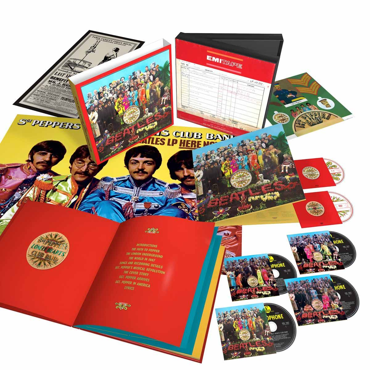 CD Box The Beatles Sgt. Pepper´s Lonely Hearts Club Band Anniversary Super Deluxe Edition