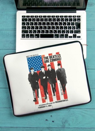 Capa Para Notebook The Beatles Are Coming!