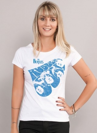 Camiseta Feminina The Beatles Rubber Soul