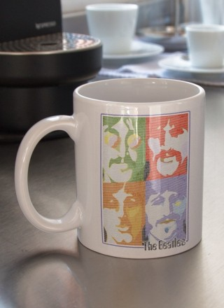 Caneca The Beatles Pop Art Light Blue