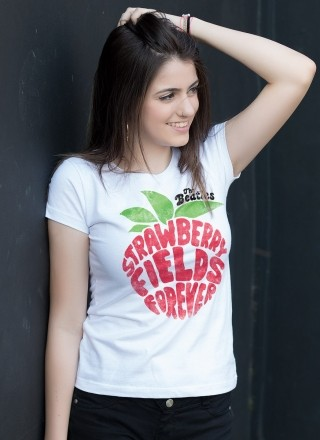 Camiseta Feminina The Beatles Strawberry Fields Forever